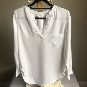 Lou & Grey long sleeved white tunic size small